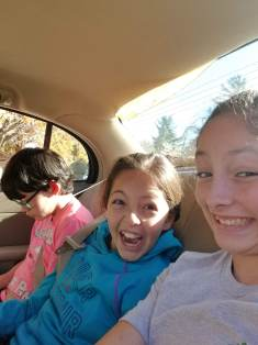 Typical car ride-We were parked